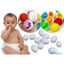 Babys Girls Boys Educational Toys Paired Twisted egg identify Right Matching