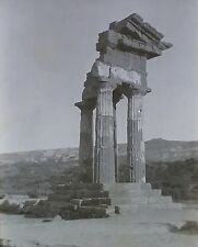 Ruins of Unknown Greek Temple, NO LABEL, Magic Lantern Glass Slide
