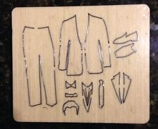 Groom dress outfits Wooden die Fits Bigshot, Sizzix, Zipemate,Bigshot Pro