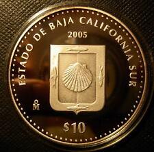 Mexico 2005 MO Silver 1 oz 10 Pesos Proof (Baja California Sur)