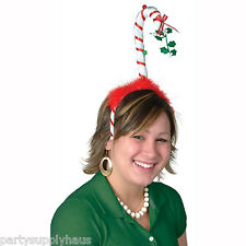 Christmas MISTLETOE CANDY CANE BOPPER Novelty HEADBAND Party Hair Accessory
