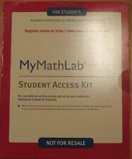 MYMATHLAB STUDENT ACCESS CODE  MYMATHLAB KIT Please Read Carefully