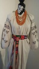 ANTIQUE   Ukrainian LINEN  Hand MADE  ARCHAIC HAND EMBROIDERED SHIRT .
