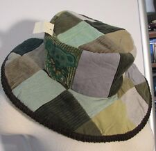 NEW GRATEFUL DEAD PATCHWORK Grn/Brown #g1 HAT With DANCING BEAR APPLIQUE Full Sz