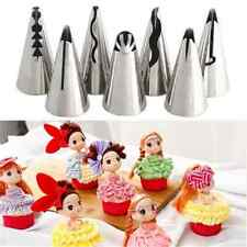 7PC Fun Stainless Steel Flower Icing Piping Nozzles Tips Pastry Cake Baking Tool
