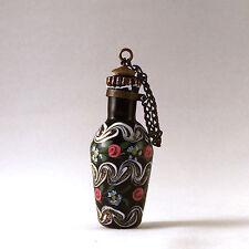Antique Italian Venetian Aventurine Glass Scent Bottle Flask Manner of Franchini