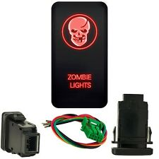 For Toyota FJ Cruiser 2007 14 12V Red Skull Zombie Push Button Switch free Wire