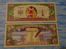 SANTA CLAUS Merry Christmas & Happy New Year  *  $1,000,000 One Million Dollars