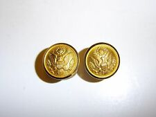 b0824p WW 2 US Army Officers side buttons for Service Hat  pair R4D