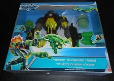 NEW Max Steel Villain TOXZON Shoots Chemicals INVASION EARTH NTEK 2014 Int'l Ed