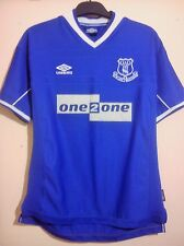 EVERTON FOOTBALL CLUB BLUE HOME SHIRT 1999 SIZE L LARGE UMBRO ONE 2 ONE VGC
