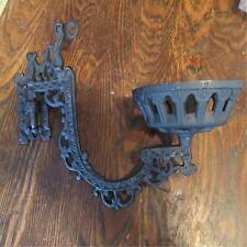"11"" Victorian style iron WALL BRACKET for old or antique kerosene oil lamp font"