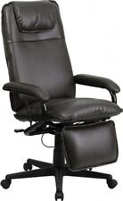 Flash Furniture High Back Brown Leather Executive Reclining Office Chair NEW