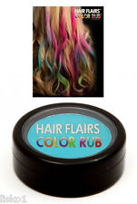 Hair Flairs Color Rub, Temporary Vibrant Fun Hair Colors   .14 oz.   (Teal) LMS