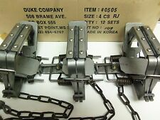 3 New Duke # 4 Rubber Jaw 4 Coil Spring Traps  Beaver Coyote  Trapping 0505