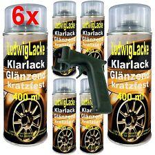 KLARLACK kratzfest 6 Spraydosen glänzend 400ml & Spraydosengriff FreiHaus