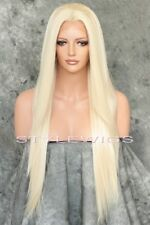 Light Blonde Long HEAT OK Straight Lace Front Synthetic Wig Hawaii SAHI 613