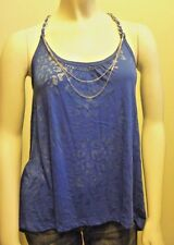 Abercrombie & Fitch Women Blue Alexis Tank Shirt NwT- Large