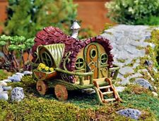 Miniature Fairy Gypsy Wagon  NOW Door Opens / Fairy Garden House Cottage 16693