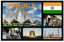 NEW DELHI, INDIA - SOUVENIR NOVELTY FRIDGE MAGNET - FLAGS / SIGHTS -  NEW/GIFT