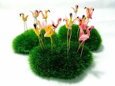 Miniature Dollhouse Fairy Garden Accessories 25 Tiny Pink colors Flamingo Pick