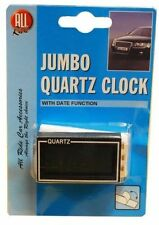 DIGITAL JUMBO QUARTZ CAR CLOCK with ADHESIVE PAD to STICK ON DASHBOARD NEW