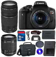 Canon EOS Rebel T6i DSLR Camera W/18-55mm IS STM &75-300mm III Telephoto Lens