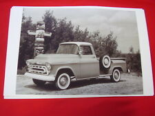 1957 CHEVROLET PICKUP TRUCK    11 X 17  PHOTO   PICTURE