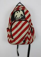 Vintage CONVERSE All Stars Punk Chuck School Back Pack Book Bag, Red White