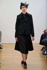 NEW STOCK: Comme Des Garcons CDG Fall14 Ink Black Wool 'Skirt' Culottes Sz S