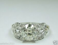 Antique Diamond Engagement Ring Platinum EGL USA Ring Size 6.25 Art Deco Vintage