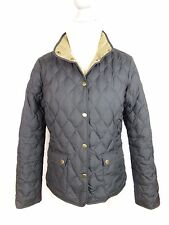 Eddie Bauer Premium Goose Down Quilted Lightweight Jacket Black EUC Women's Sz M