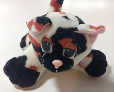 """Vintage Galoob Pound Puppies Purries Purry Kitty Cat Rare Calico 6"""" Kitten"""