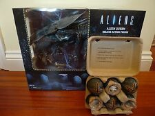 "Neca Xenomorph Aliens Queen Ultra Deluxe Boxed Figure 15"" & Egg Set in carton BN"