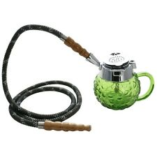 "5"" MYA Coppa 1 Hose Mini Hookah Pipe Set Green"