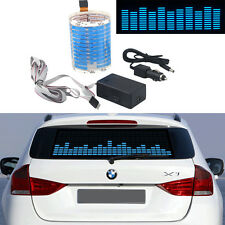 1x 45*11cm Car LED Flash Blue Light Sound Music Activated Sticker Lamp Equalizer