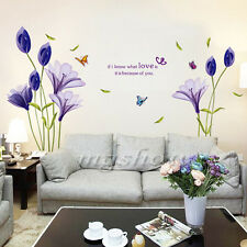 Flowers Removable Mural Wall Sticker Decal Home DIY Living Room Decor Vinyl Art