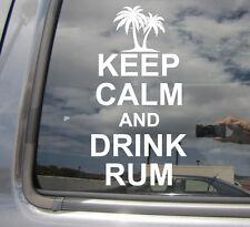 Keep Calm And Drink Rum - Funny Humor - Vinyl Die-Cut Decal Window Sticker 03003