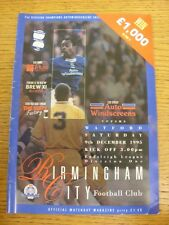 09/12/1995 Birmingham City v Watford  (Creased, Worn). Trusted sellers on ebay b
