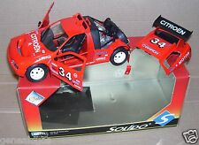 RARE SOLIDO CLUB 1/18 CITROEN ZX RALLYE RAID ROUGE N°34 REF 9003 IN BOX