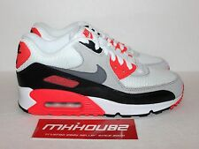 New Nike Air Max 90 Premium Infrared White Shoes Rare Size Men's 6 Women's 7.5