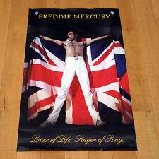 FREDDIE MERCURY LOVER OF LIFE SINGER OF SONGS manifesto poster Queen EMI London