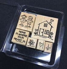 Stampin Up! Heart And Home Stamp Set Of 6
