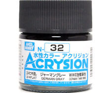 MR HOBBY GUNZE NEW AQUEOUS ACRYSION ACRYLIC N32 GERMAN GRAY MODEL KIT PAINT 10ml