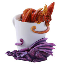Amy Brown Double Dragon Red Purple Tea Coffee Cup  Wake Up Dragons 2016