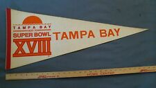 VERY RARE Tampa Bay Host Super Bowl XVIII Los Angeles Oakland Raiders Redskins