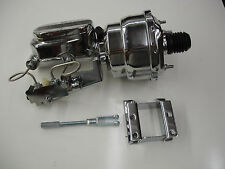 1955 1956 1957 chevy chrome brake booster master includes disc drum pro valve