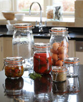 Kilner Vintage Food Glass Storage Spices Chutney Deli Jam Jars Pot Clip Top Seal