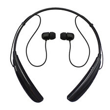 Black Wireless Bluetooth Stereo Earbuds Headset For iPhone LG Tone Pro H750