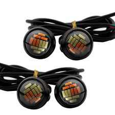 10Pairs 12V 23mm Dual Color Switchback 4014 12 LED DRL Eagle Eye Daytime Light
